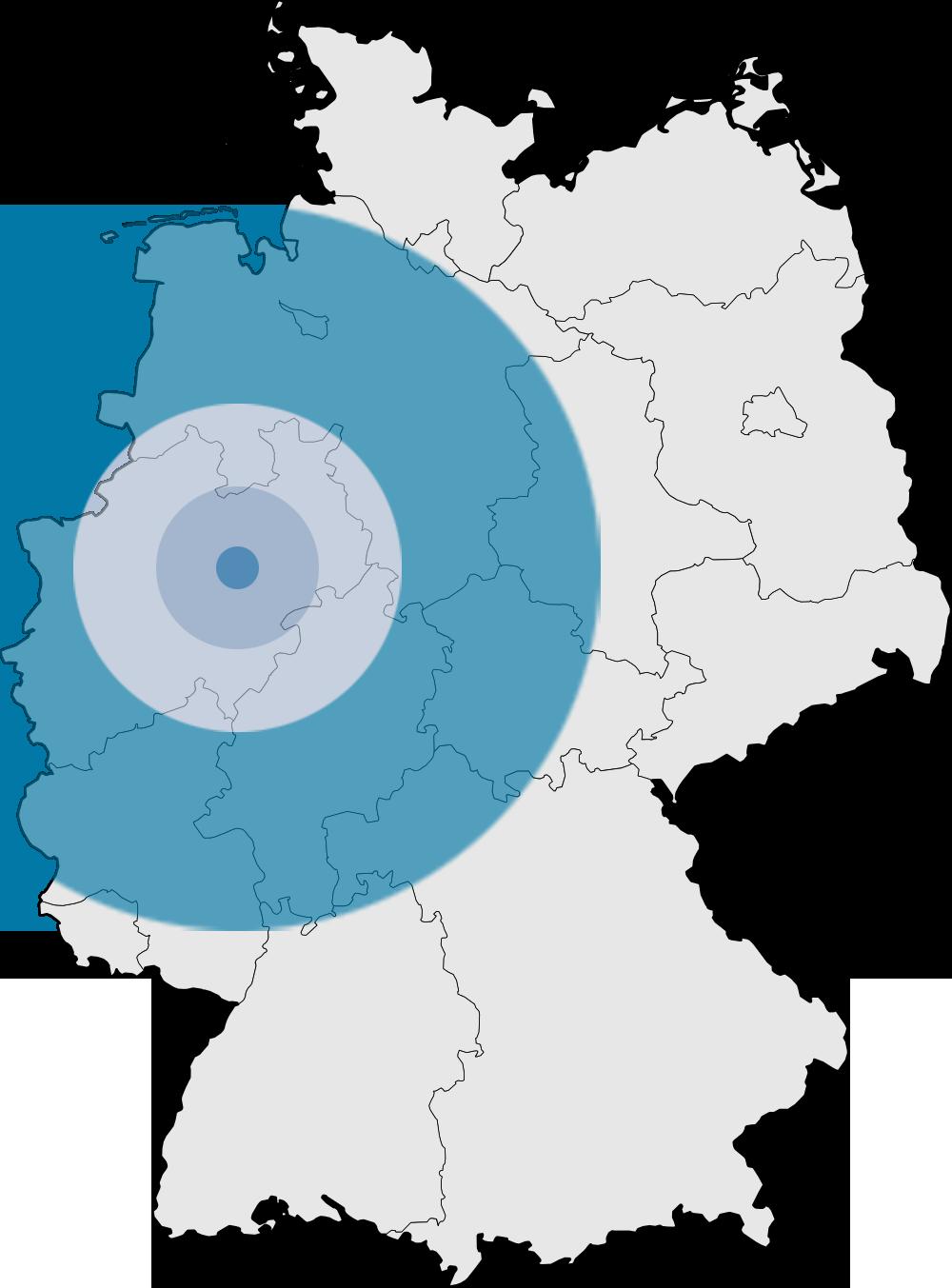 Estrich Oberhausen - Einsatzorte und Gebiete